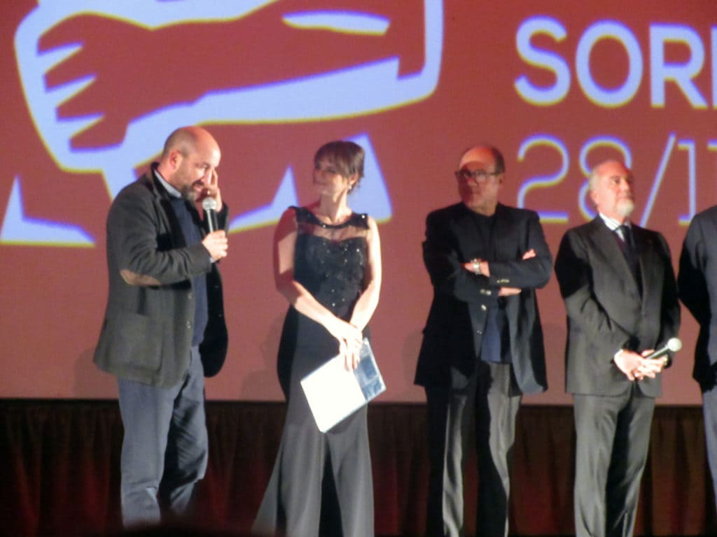 Antonio Albanese, Carlo Verdone, Lorena Bianchetti ed Aurelio De Laurentiis alle 39° Giornate Professionali di Cinema a Sorrento