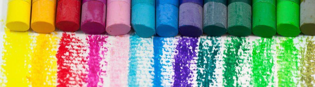Pastelli arcobaleno arte