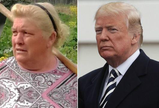 Dolores sosia di Donald Trump